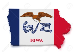 iowa flag shape of iowa