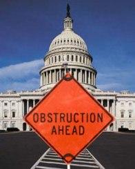 obstruction ahead