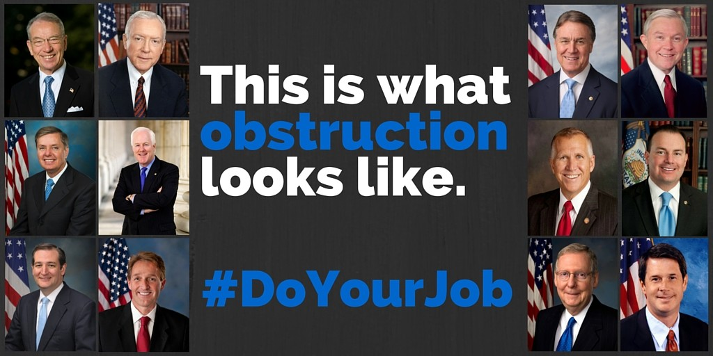 do your job obstructionist