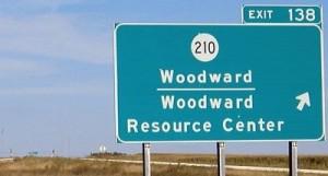 woodward resource center sign