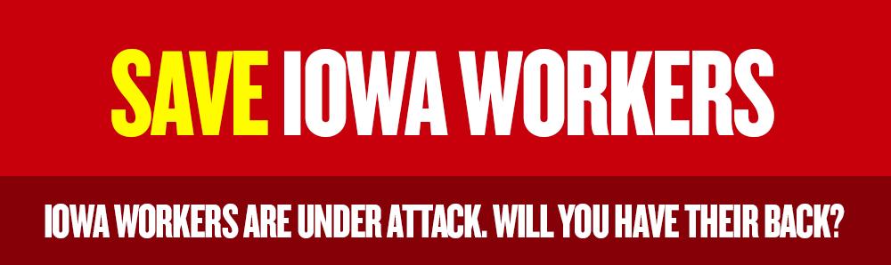 save iowa wokers logo