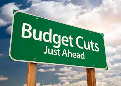 budget cuts Noun 1 budget cut - the act of reducing budgeted expenditures cut - the act of reducing the amount or number the mayor proposed extensive cuts in the city budget want to thank tfd for its existence tell a friend about us, add a link to this page, or visit the webmaster's page for free fun.